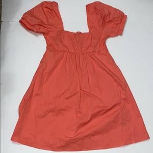 Wild fable coral dress puff sleeve size xs